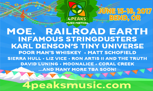 June 15-18: 4 Peaks Music Festival - Bend, OR